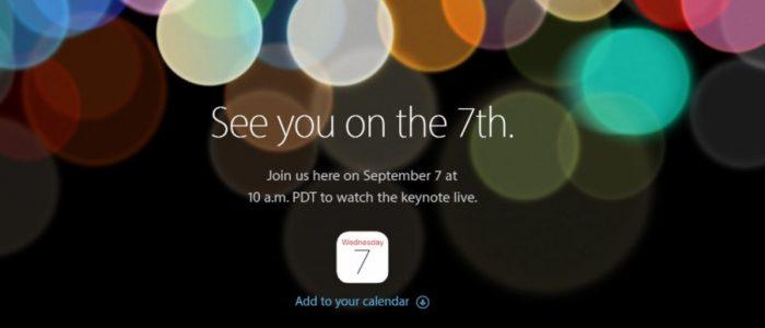 Apple iPhone 7 presentazione