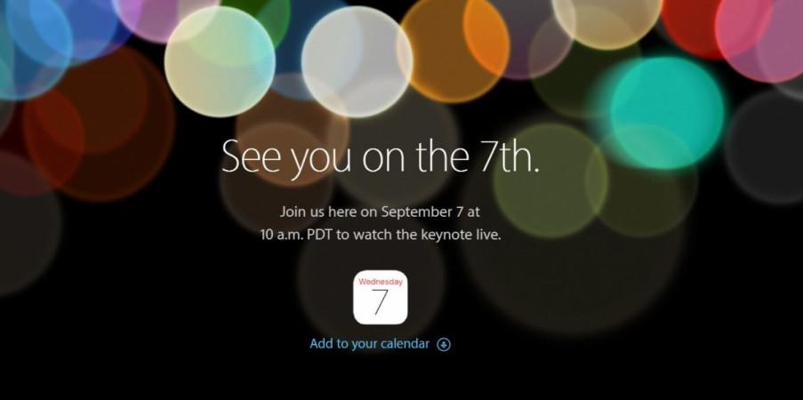 iPhone 7: verrà presentato il 7 settembre