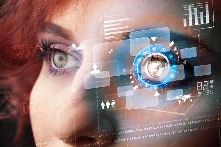 Scansione iride biometrico iride