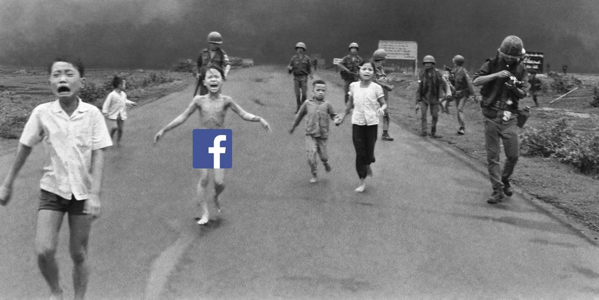 Facebook riammette foto bimba Vietnam