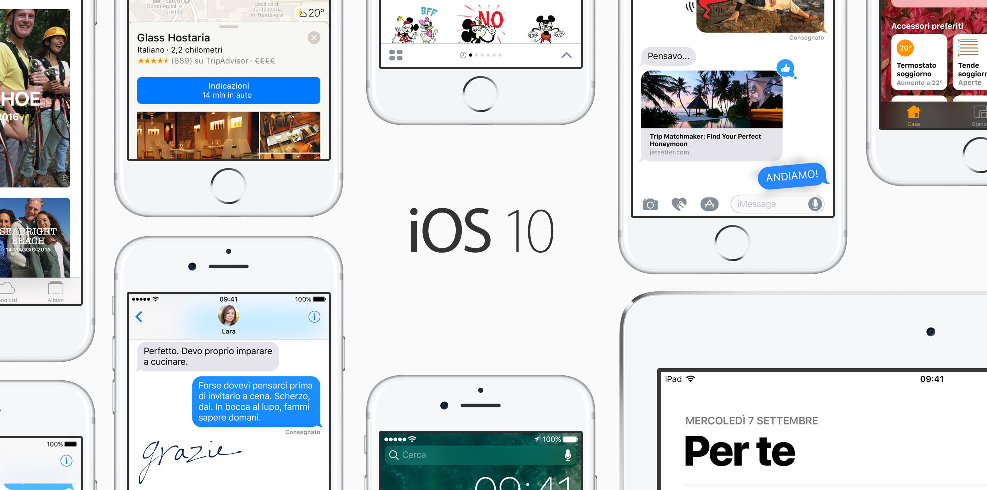Aggiornamento iOS 10: le principali novità