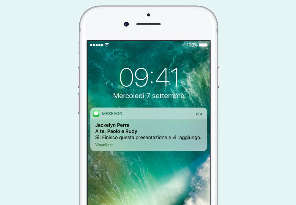 notifiche iOS 10