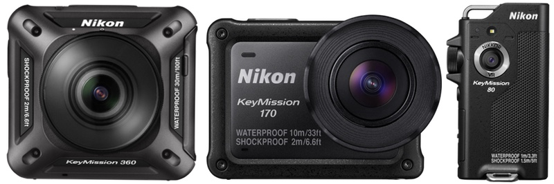 Nikon KeyMission: le action cam sempre connesse con lo smartphone