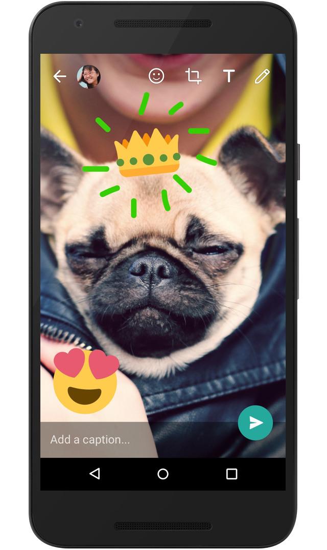 Whatsapp ora personalizza le foto