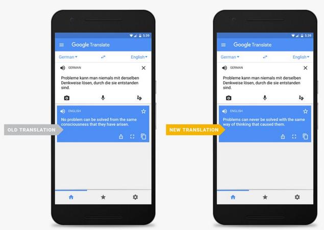 Google migliora la tecnologia di traduzione di Translate