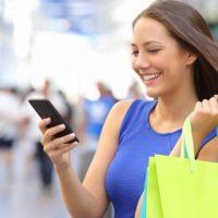 shopping via smartphone