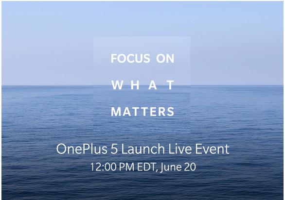 OnePlus 5 dovrebbe essere presentato il 15 Giugno