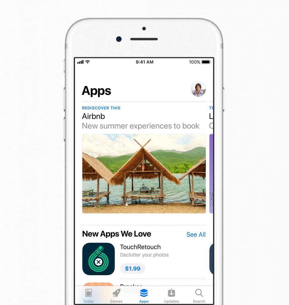 Apple ridisegna completamente l'App Store, con tanto di tab per i Giochi