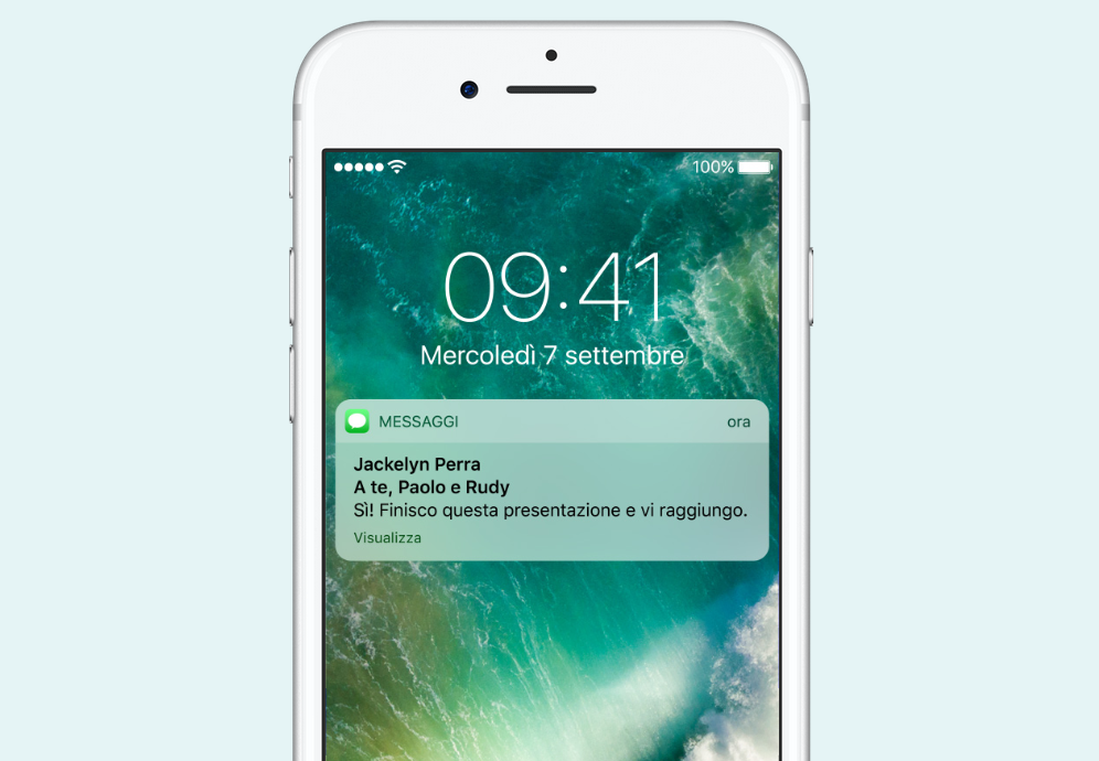 notifiche iOS 10