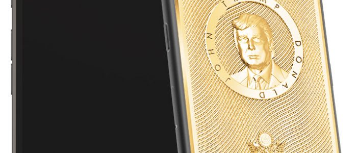 iPhone Donald Trump dorato