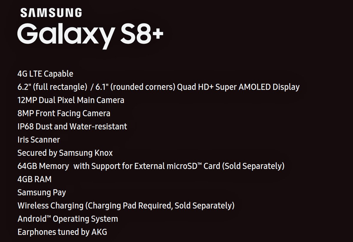 Galaxy S8 scheda tecnica di Evan Blass