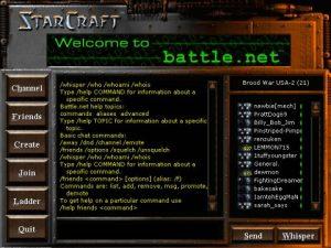 Starcraft battle.net