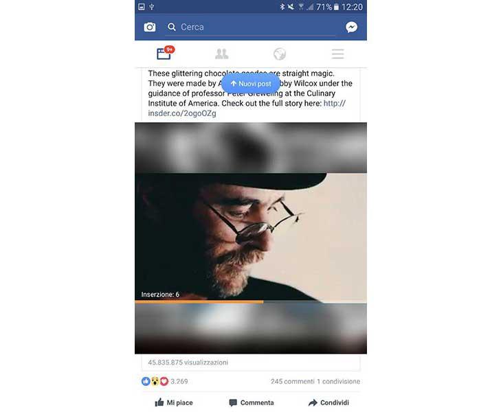 Spot all'interno di video FB