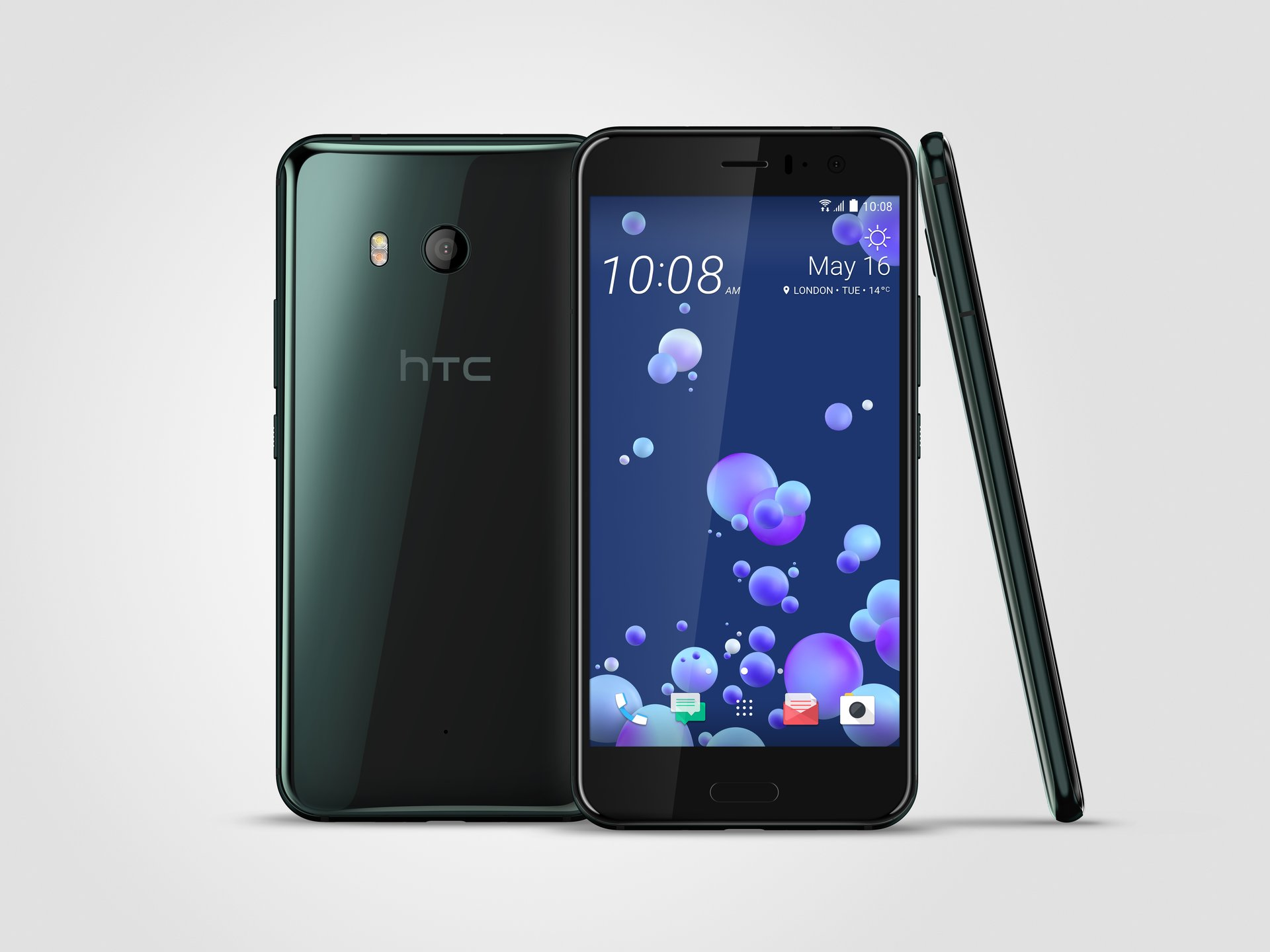 HTC U11 fronte e retro