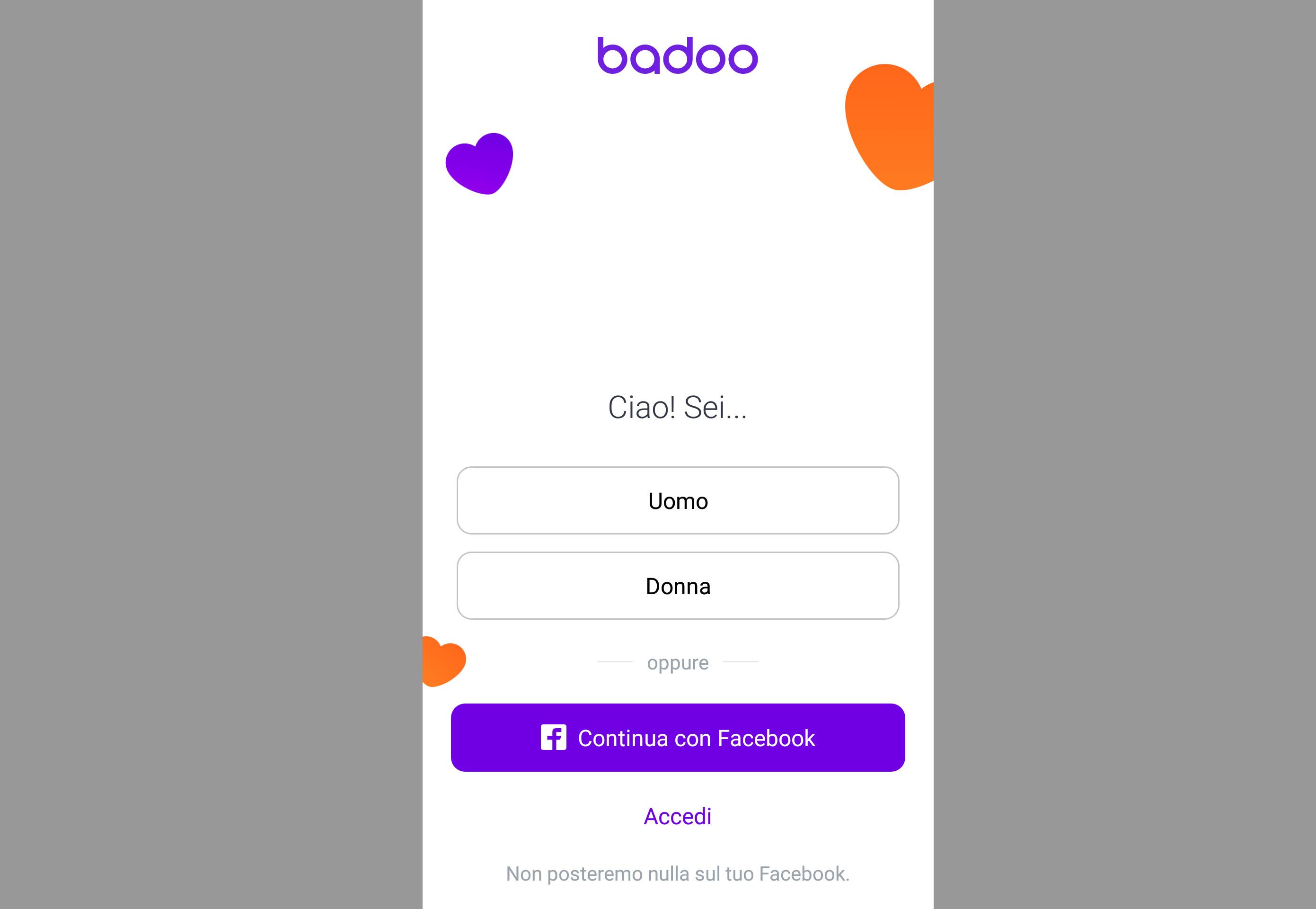 Badoo registrazione