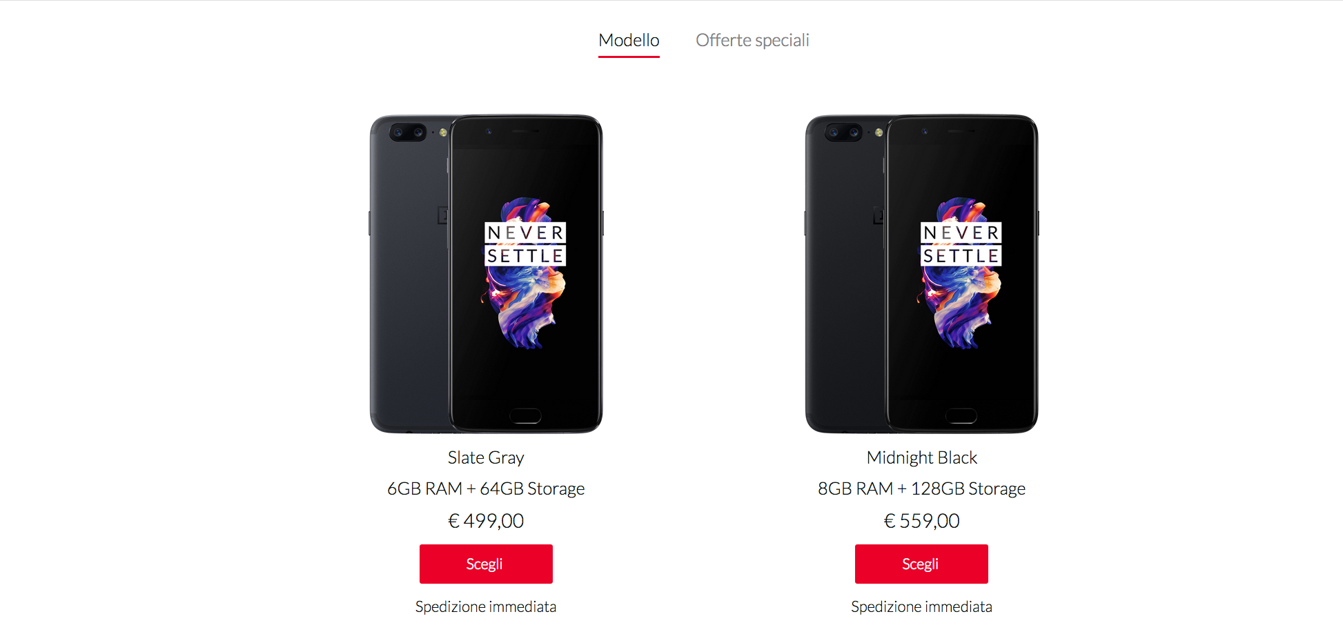 OnePlus 5 prezzi