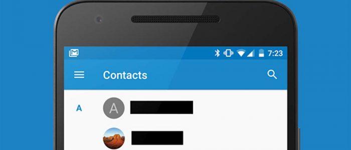 App Contatti di Android