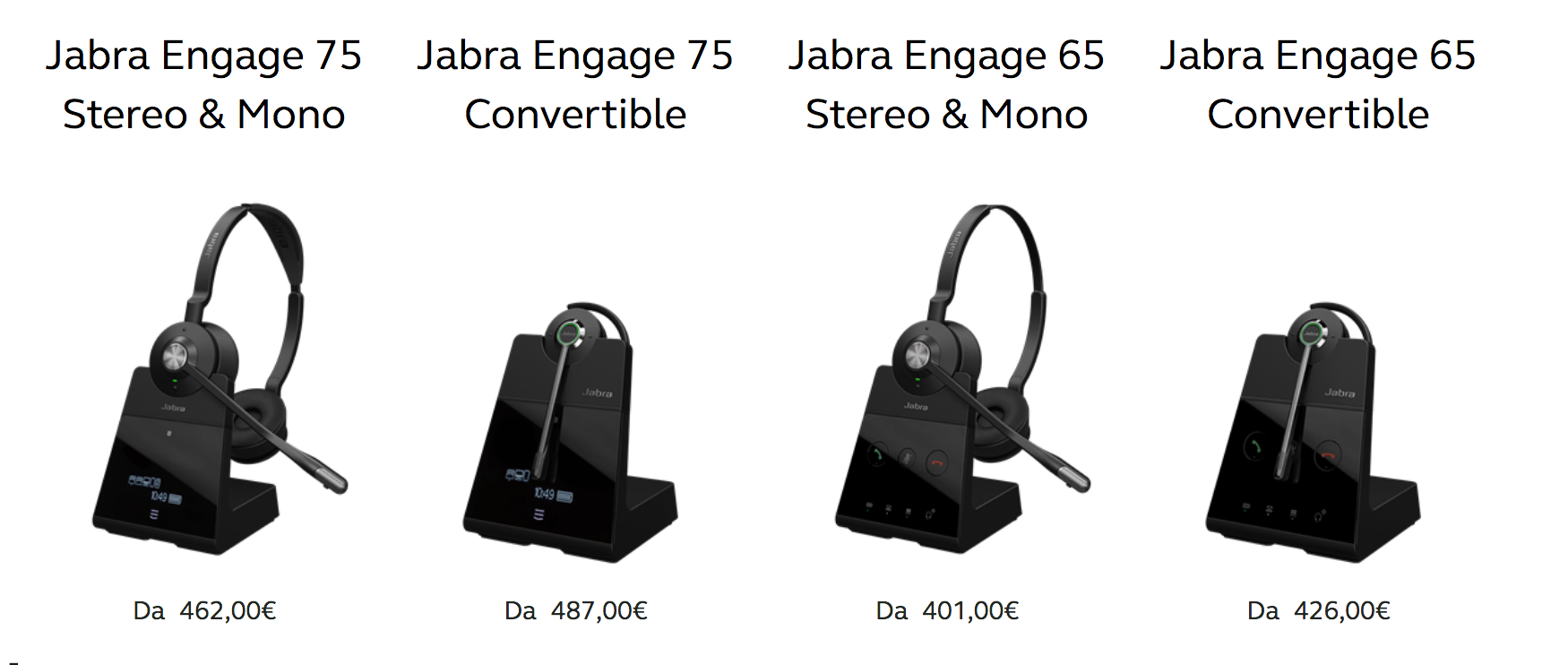 Prezzi cuffie wireless Jabra