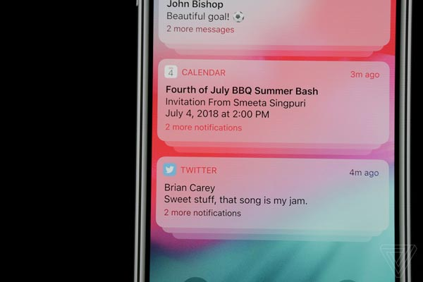 Apple iOS 12 notifiche