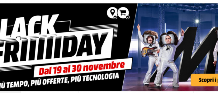 volantino Mediaworld Black Friday